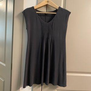 Eileen Fisher 100% Silk Pleated Tunic Sz S EUC
